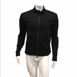 Ralph Lauren Black Label Mens Black Biker Jacket